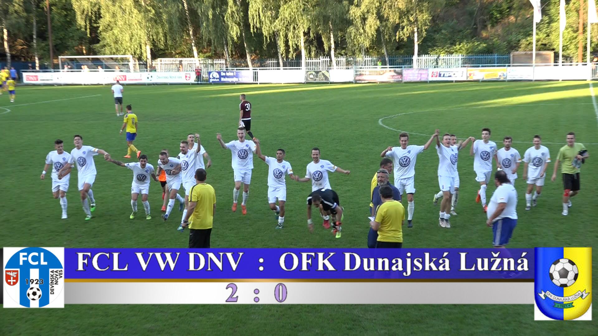 FCL VW DNV : OFK Dunajská Lužná