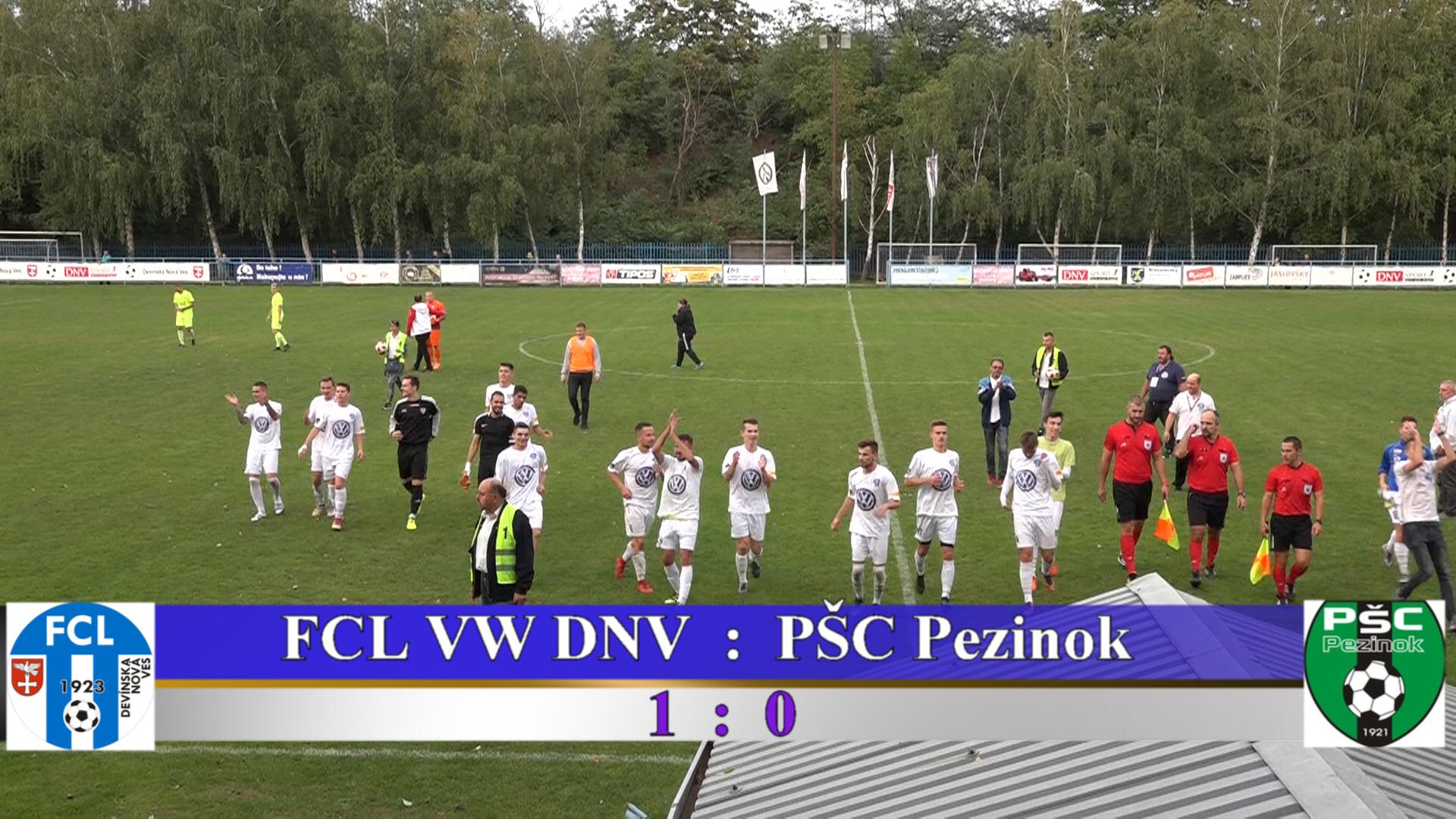 FCL VW DNV : PŠC Pezinok