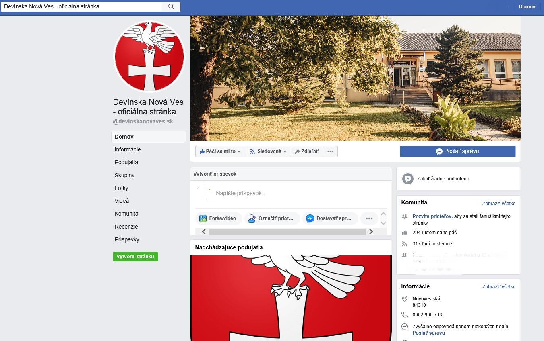 oficiálnu facebookovú stránku