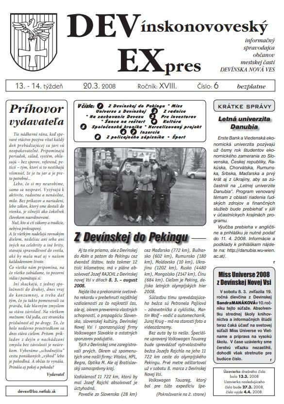 zverejnenie devexu